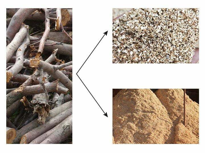 applications of wood crusher machine