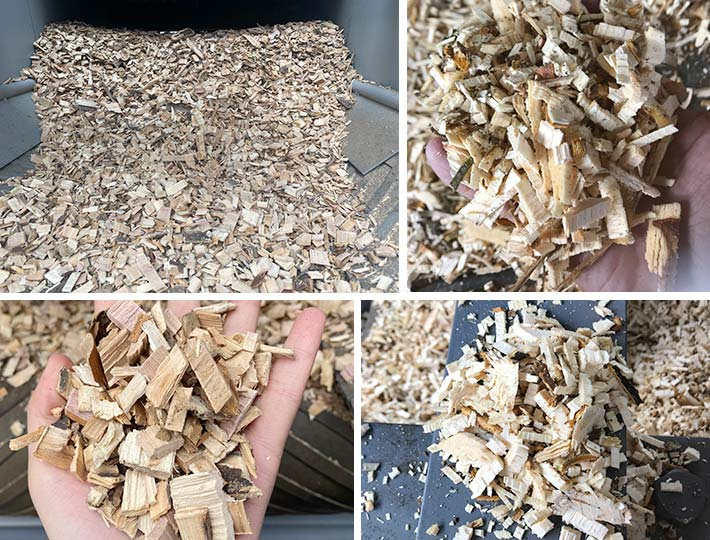 high-quality wood chips production with the drum chipper