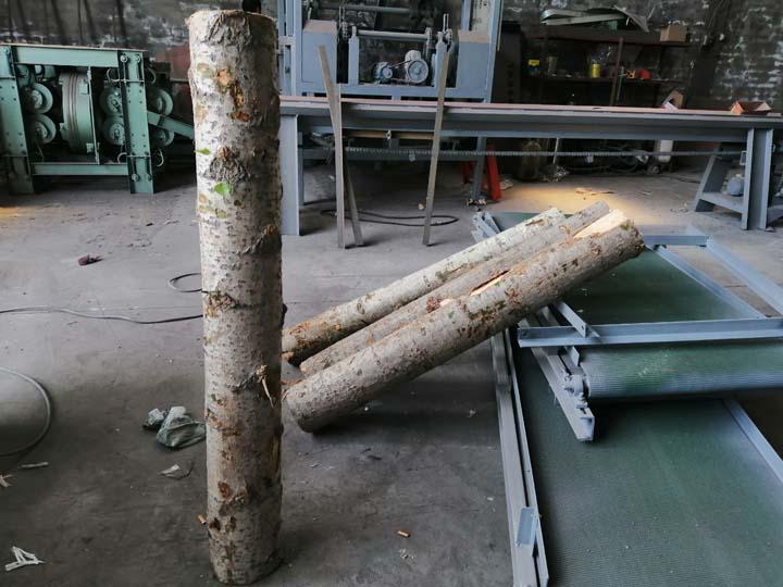 log sections for debarking