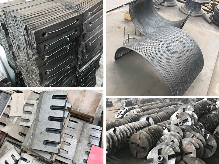 main parts of the wood crusher