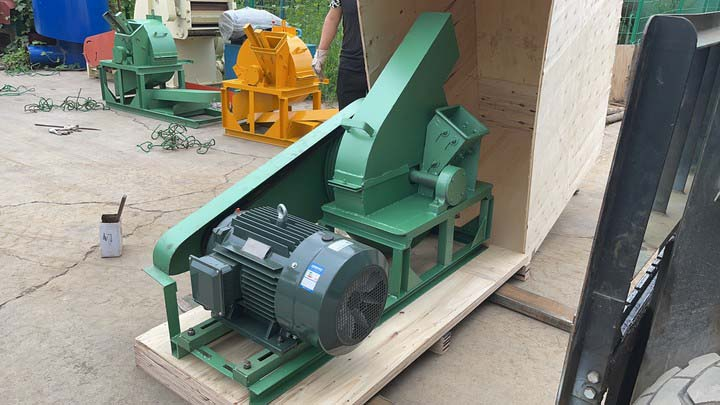 small wood chipper for shipping to Indonesia