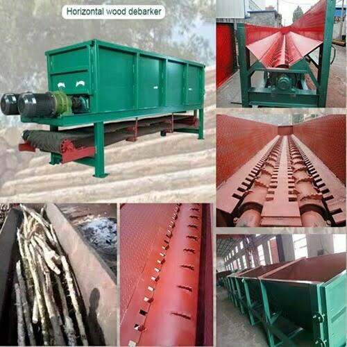 trough wood debarker machine structure