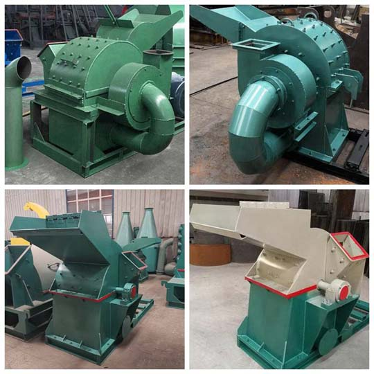 variou types of wood crushers in Shuliy factory