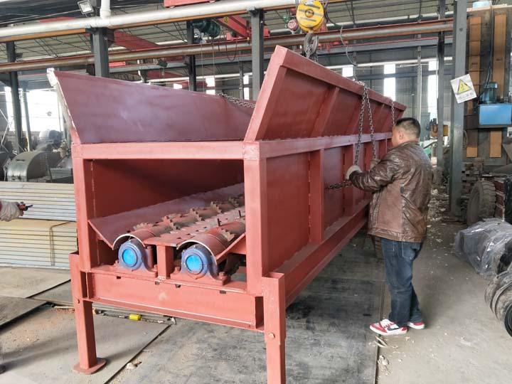 wood debarking machine with customizable size