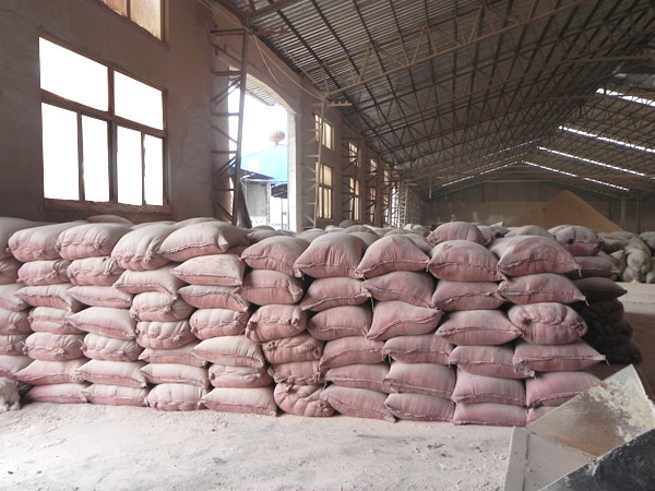 Pakistan customer'plant for making wood powder