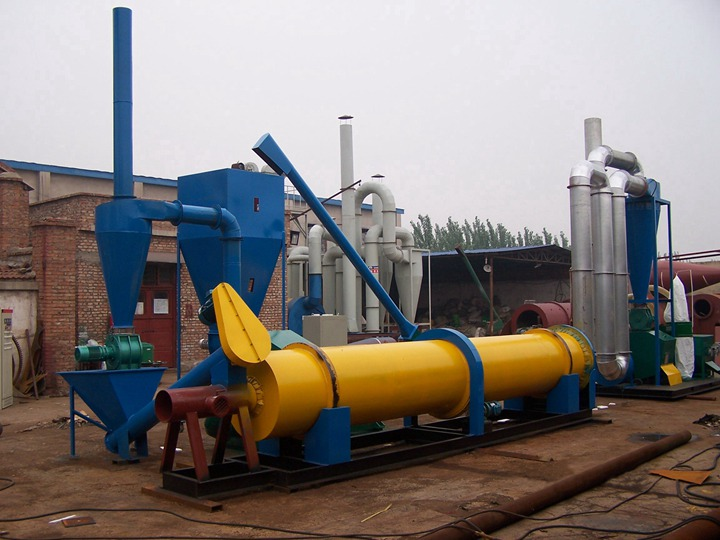 complete set of rotary type sawdust drying machine