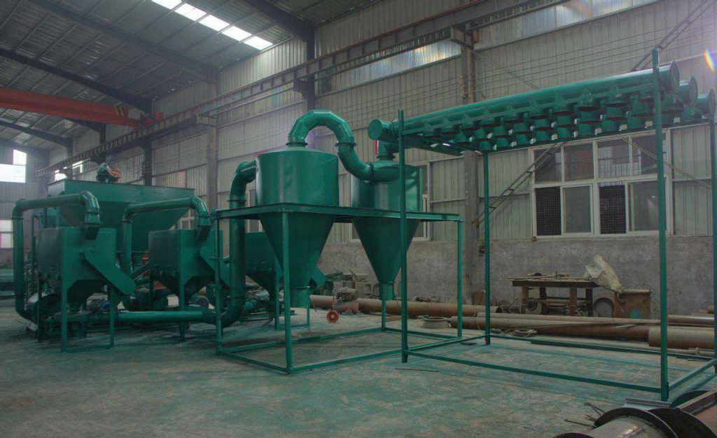 large wood flour processing plant