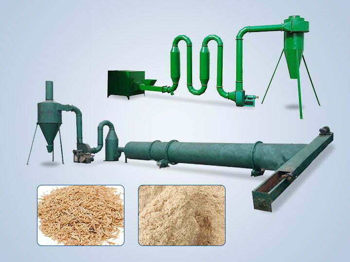 sawdust rice husk dryer machine