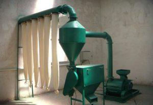small wood powder processing plant