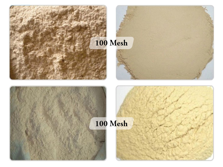 various wood powder specifications