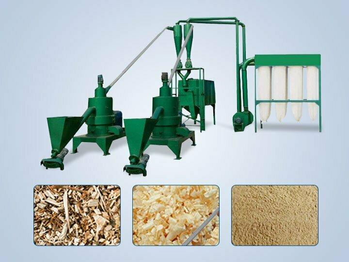 wood flour grinding machine