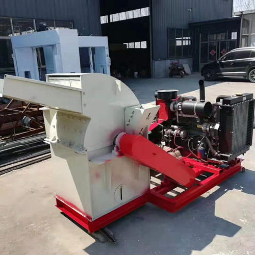 wood hammer mill with diesel engine drive