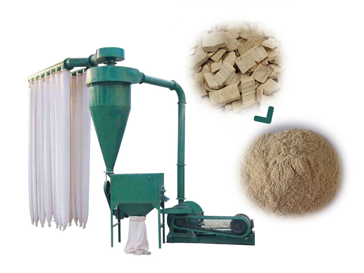 wood powder machine for sale
