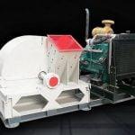 diesel engine type wood crushing machine