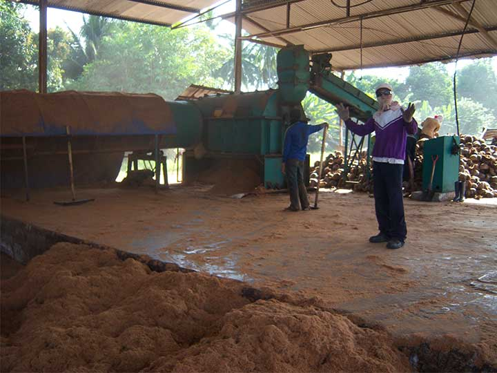coconut fiber extraction plant in Malaysia