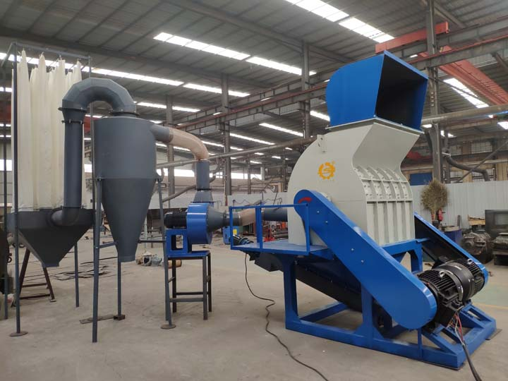hammer wood crusher with dust collector