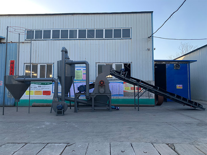 industrial wood recycling plant