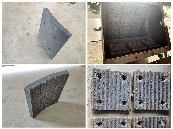 inner liners of the hammer mill crusher machine