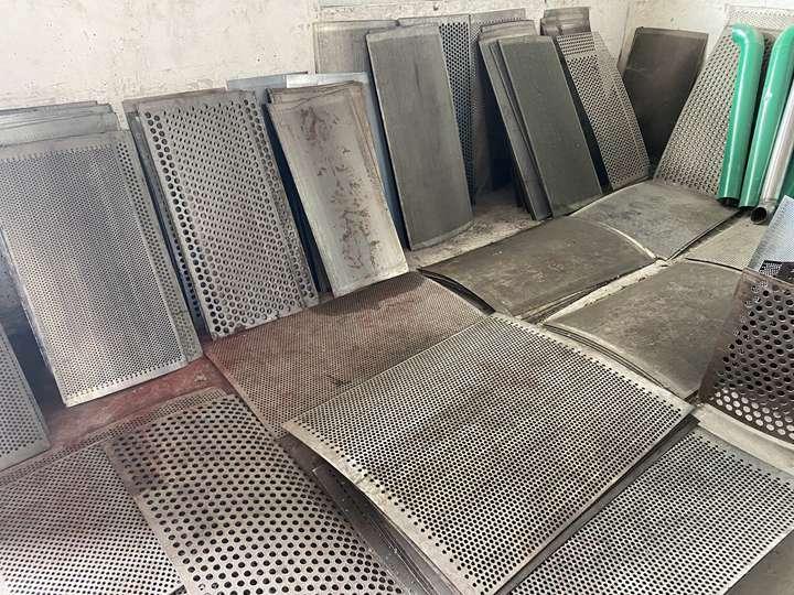 screening mesh of the wood crushers