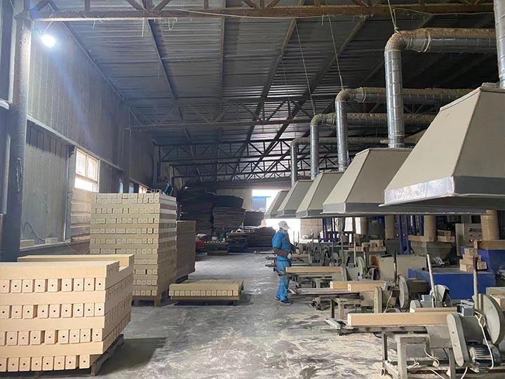 sawdust pallet blocks factory