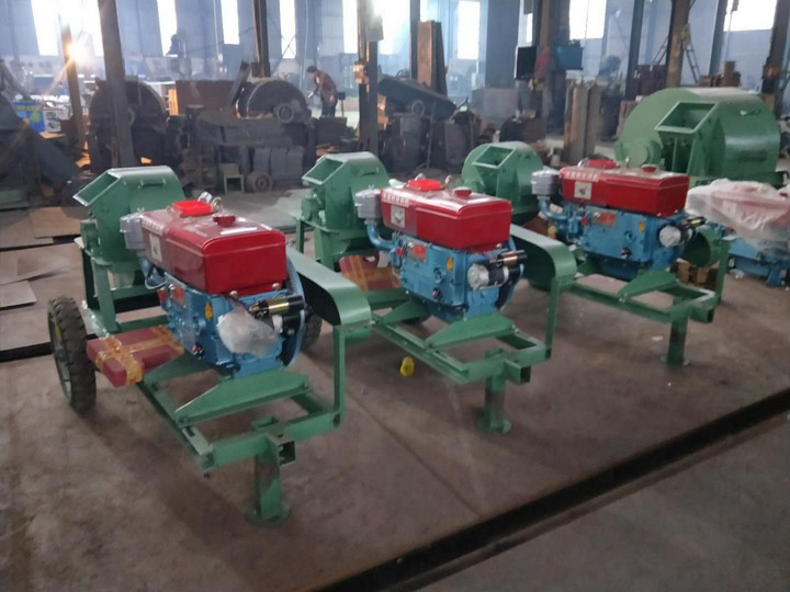 small log crusher with diesel engine