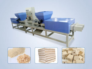 wood pallet block machine