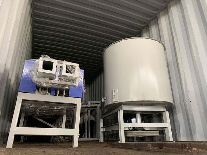 wood pallet block making machine for shipping to Singapore