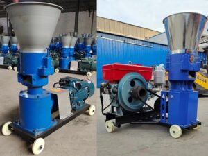 feed pellet machine with electricity and diesel engine drive