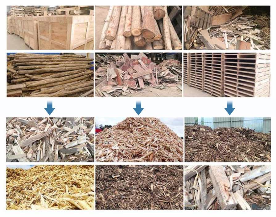 applications of wood pallet shredder machine