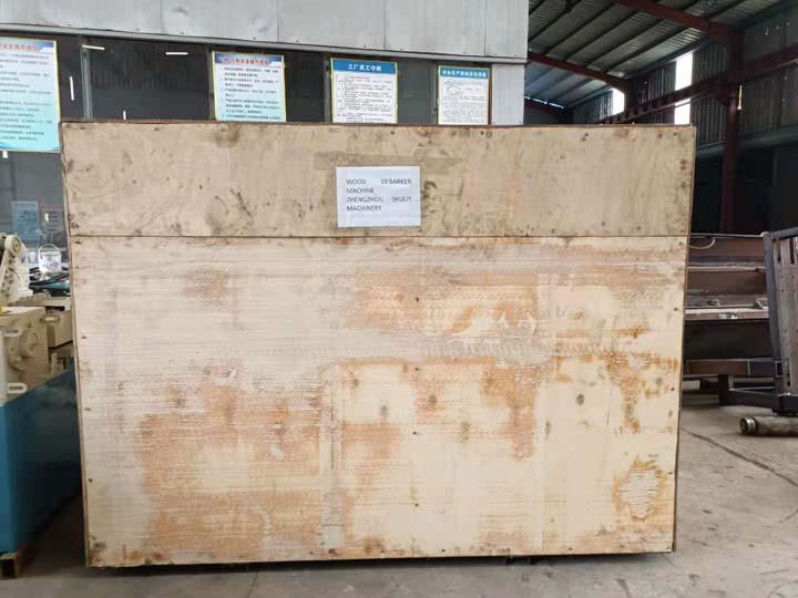 log debarking machine wooden package