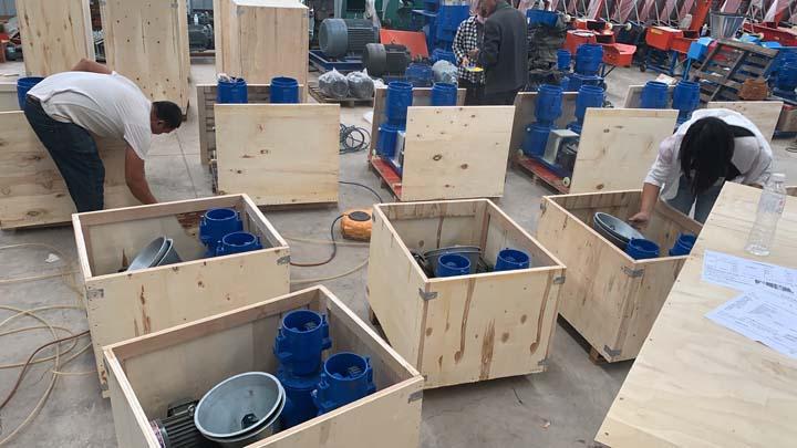 packaging the pellet machine in Shuliy factory